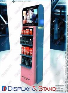 Стенд напольный N1011 из ламината для парфюмерии пристенный