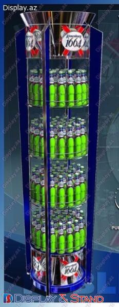 Прилавок для товара N1100 из метала для парфюмерии в центр