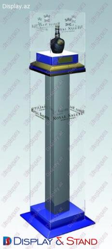 Прилавок для товара для рекламы N1102 стеклянный прилавок для промо товаров в центр
