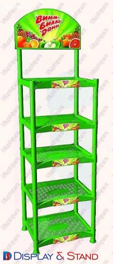Пристенная мебель N1104 из пластика для продуктов питания в центр