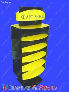 Стенд напольный N1107 из профильной трубы для парфюмерии пристенный