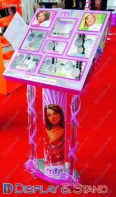 Прилавок для товара для промо-акций N1179 из ламината для парфюмерии в центр