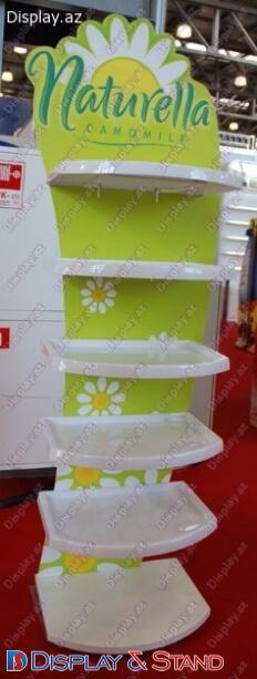 Прилавок для товара N1188 из ламината для продуктов питания и сладостей пристенный