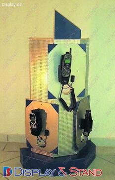 Mərkəzdə reklam və avadanlıqlar üçün metaldan hazırlanmış divar vitrini N212