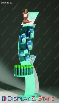 Пристенная мебель N26 из ламината для парфюмерии пристенный
