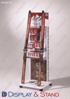 Стенд напольный N661 из пластика для косметики и напитков в центр