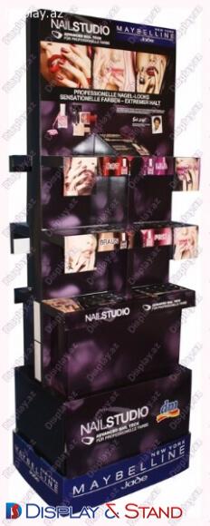 Пристенная мебель N683 из проволоки для парфюмерии алкоголя и техники в центр