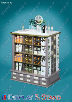 Gül mağazası üçün laminat ticarət stendi N691