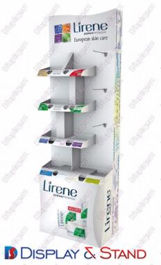 Стенд напольный N718 из акрила для парфюмерии и оборудования пристенный