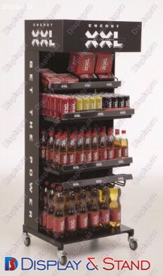 Стенд напольный N728 из проволоки для алкоголя и оборудования пристенный