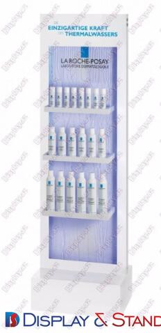Прилавок для товара N738 из профильной трубы для косметики алкоголя в центр