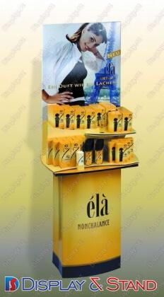 Прилавок для товара для промо-акций N74 из проволоки для продуктов питания парфюмерии, подставка для книг и промо товаров пристенный