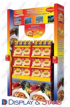 Прилавок для товара для промоакции N796 из ламината для продуктов питания пристенный