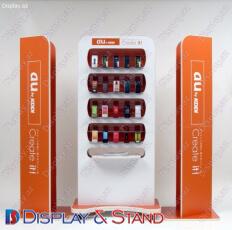 Прилавок для товара для промоакции N808 из акрила для промо товаров и оборудования пристенный
