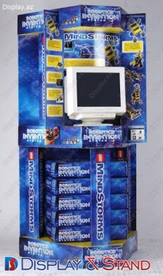 Стенд напольный N83 из картона для техники пристенный и в центр