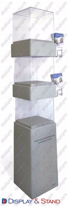 Прилавок для товара N842 из профильной трубы для парфюмерии напитков и оборудования в центр