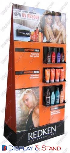 Прилавок для товара N856 из прозрачные для продуктов питания парфюмерии и промо товаров в центр