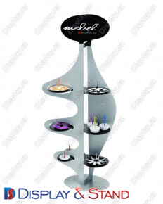 Стенд напольный N929 из метала для продуктов питания парфюмерии, алкоголя и оборудования в центр