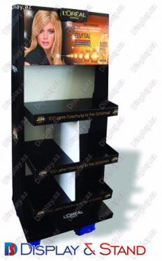 Прилавок для товара N943 из профильной трубы для косметики напитков и конфет пристенный