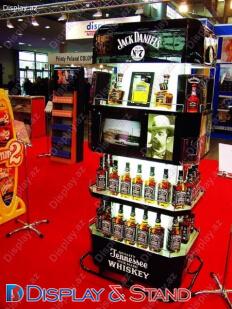 Торговая стойка N1003 из профильной трубы для алкоголя в центр