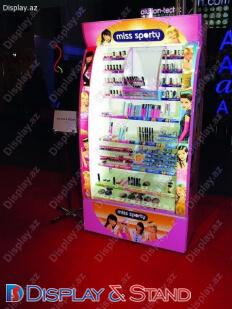Пристенная мебель N1014 из пластика для парфюмерии пристенный