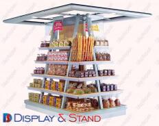 Стенд напольный для промоакции N101 из метала для продуктов питания в центр