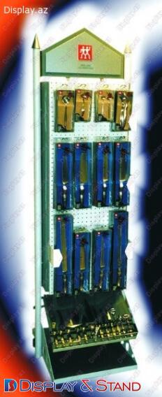 Avadanlıqlar üçün metaldan hazırlanan divara quraşdırılmış məhsul stendi N102