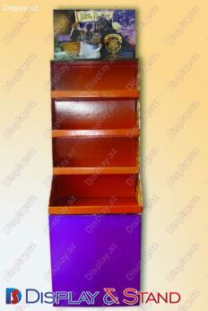 Пристенная мебель N1091 из метала для сладостей пристенный