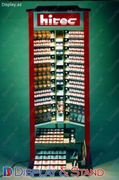 Торговая стойка N10 из ламината для продуктов питания пристенный