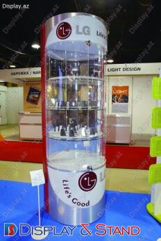 Торговая стойка N1124 прозрачные для оборудования в центр
