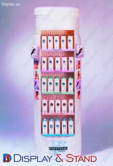 Пристенная мебель для промоакции N114 из ламината для парфюмерии рекламы пристенный