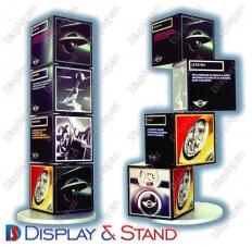 Прилавок для товара для рекламы N721 из картона для продуктов питания косметики, напитков и рекламы в центр