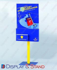 Торговая стойка для промоакции N150 из пластмассы для рекламы в центр