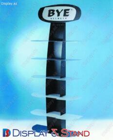 Прилавок для товара N151 из профильной трубы для парфюмерии в центр