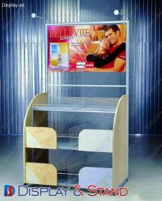 Пристенная мебель N186 из ламината для парфюмерии и техники в центр