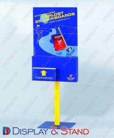 Стенд напольный для рекламы N222 из пластика для газет и промо товаров пристенный