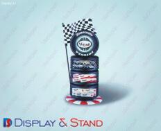 Торговая стойка для рекламы N235 из ламината для рекламы и оборудования в центр