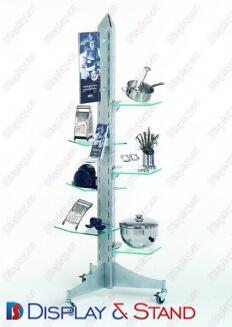 Mərkəzdə texnologiyalar üçün laminatdan hazırlanmış divar vitrini N247