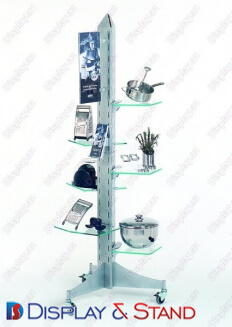 Пристенная мебель N248 из пластика для техники в центр