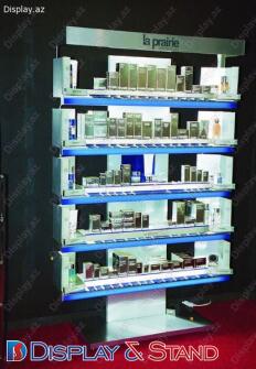 Kosmetika üçün laminatdan hazırlanmış divara quraşdırılan ticarət stendi N27