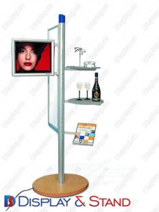 Стенд напольный для рекламы N297 из профильной трубы для чипсов и семечек в центр