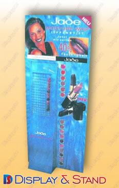 Торговая стойка для промоакции N31 из пластмассы для рекламы пристенный