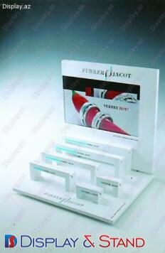 Plastik və kosmetik məhsullar üçün plastikdən hazırlanmış reklam stendi N323