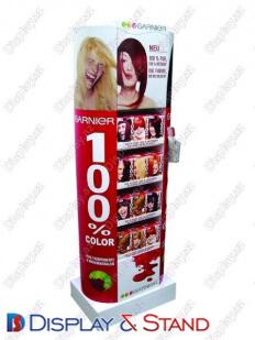 Пристенная мебель для рекламы N351 из ламината для продуктов питания в центр