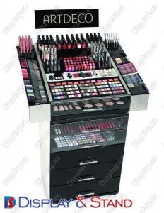 Стенд напольный для промоакции N333 из ламината для парфюмерии и промо товаров в центр
