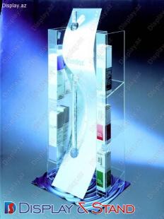 Kosmetika və reklam təqdimatları üçün plastikdən hazırlanan divar vitrini N40