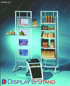 Торговая стойка для промоакции N44 из проволоки для промо товаров пристенный и в центр