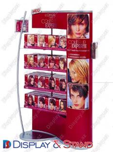 Торговая стойка для BTL N462 из ламината для парфюмерии и промо товаров в центр