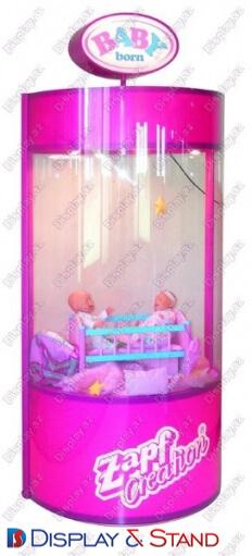 Торговая стойка для рекламы N466 из ламината для парфюмерии пристенный