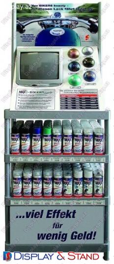 Стенд напольный для рекламы N495 из метала для рекламы в центр